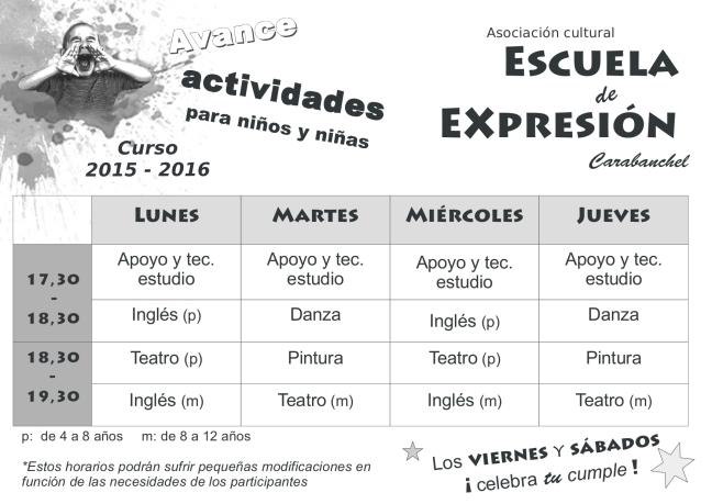 Escuela Expresión carabanchel2015
