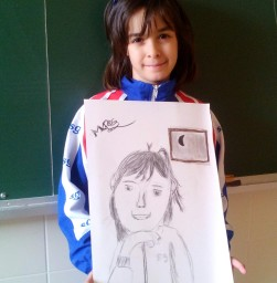 Retrato de Irene por marcos, 8 años