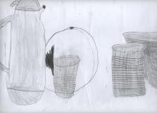 Bodegón por Beatriz, 6 años