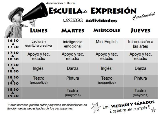extraescolares escuela de expresion