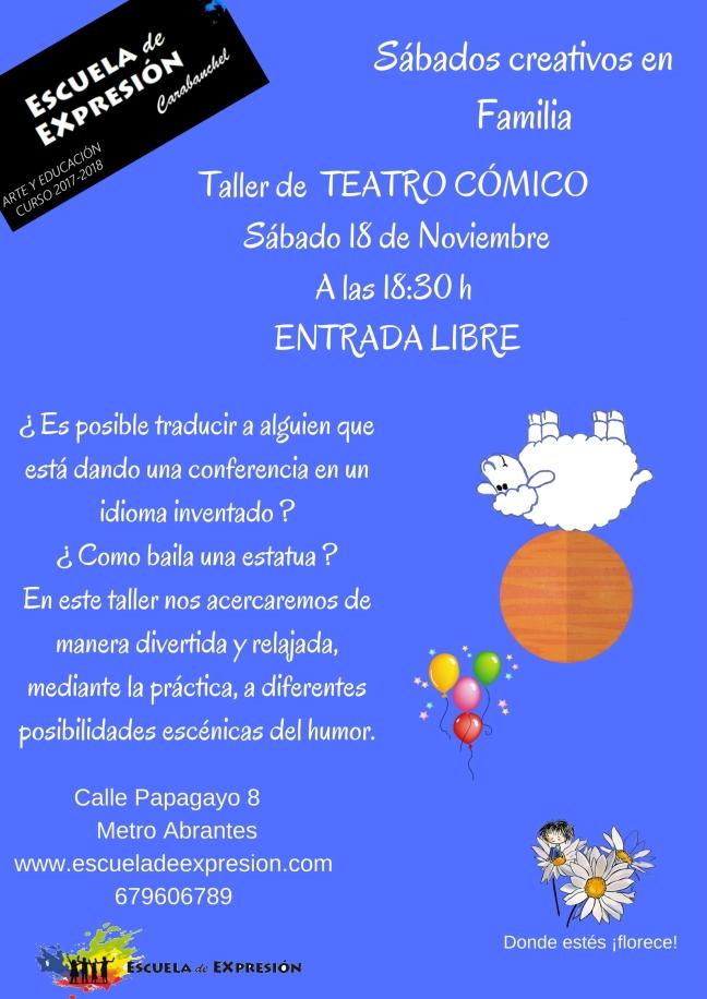 Sábados Creativos en Familia (Teatro Cómico)